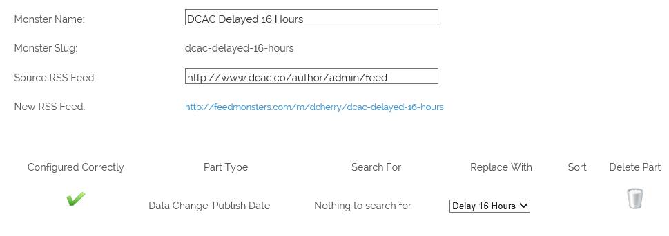 DCAC 16 Hour Delay
